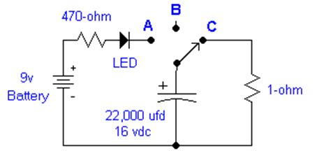 experiment for charging and discharging of a capacitor capacitors charging