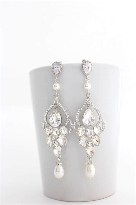 Bridal Chandelier Earrings Bridal Chandelier Earrings Chandelier By Estylojewelry