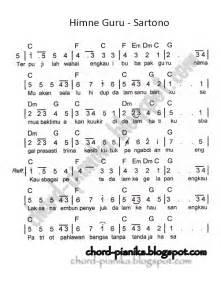 Bad Day Kunci Gitar Chord Piano Himne Guru Musikal Notes