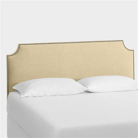 linen headboard linen caiden upholstered headboard world market