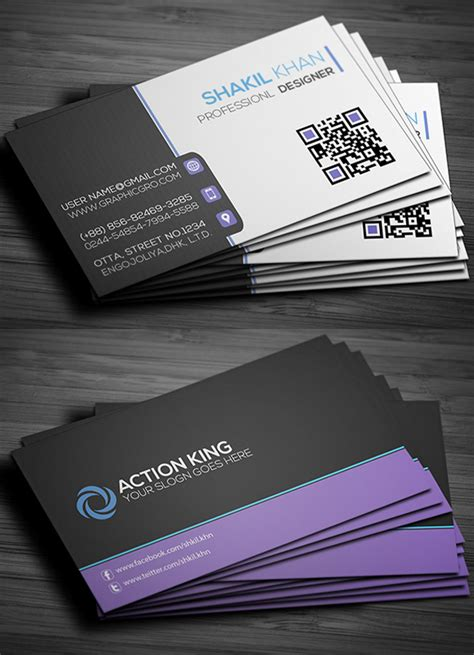 Free Business Card Design Template by Free Business Cards Psd Templates Print Ready Design