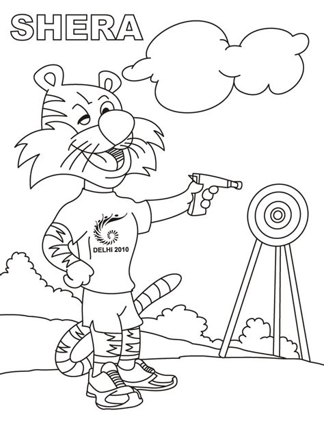Shooting Target Coloring Page Coloring Pages Shooting Coloring Pages