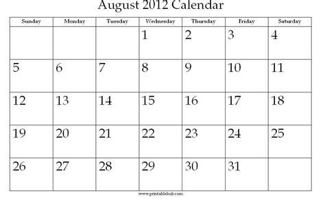 August 2012 Calendar 2012 Calendar August Gallery