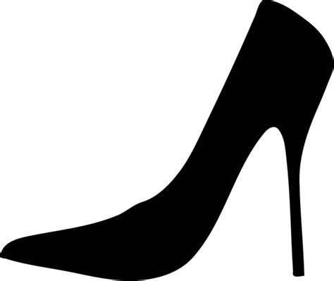 shoe silhouette free vector in open office drawing