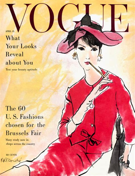 230 Vogue Covers History Of Fashion In Pictures by Fashion Illustration And Portraits By Robert Bouche