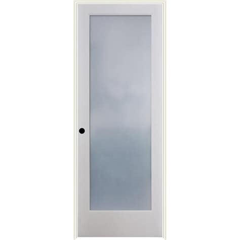 Shop Reliabilt Frosted Glass Solid Core Single Prehung Prehung Interior Door With Glass