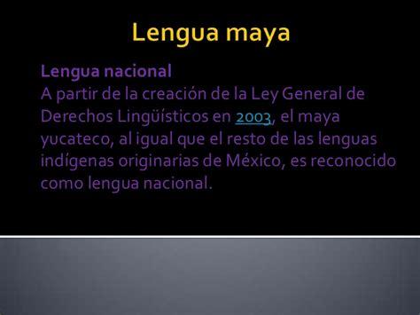 la lengua de los 8430618813 lengua maya