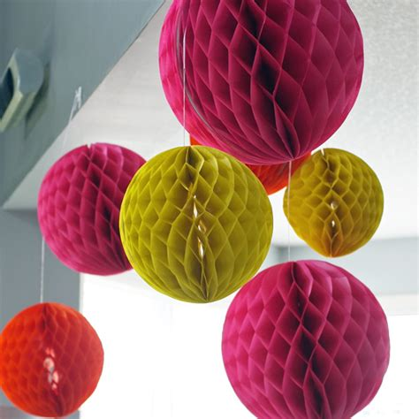 How To Make Crepe Paper Lanterns - she s going to pop baby shower in pink and orange