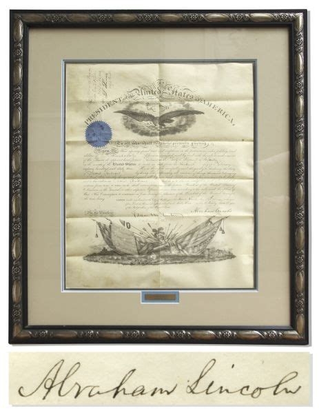 abraham lincoln condition abraham lincoln document signed at auction sells for 10 068