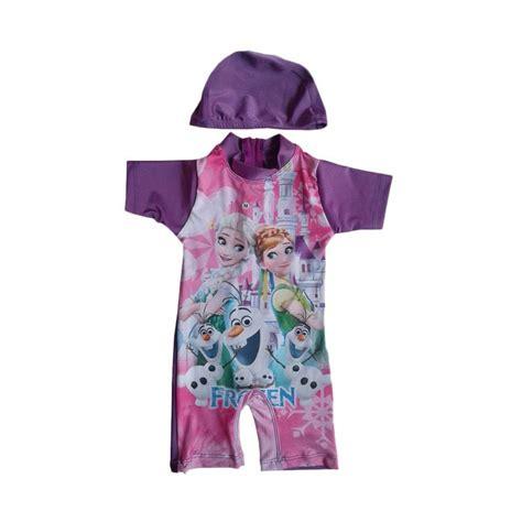 jual rainy collections karakter frozen baju renang bayi ungu harga kualitas