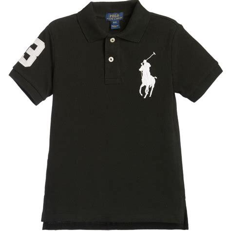 Black Blouse Oversized Kemeja Polos Diskon polo ralph boys black white big pony polo shirt childrensalon