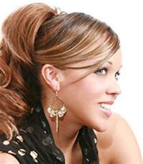 swoop ponytail hairstyles swoop bangs curly ponytail and bangs on pinterest