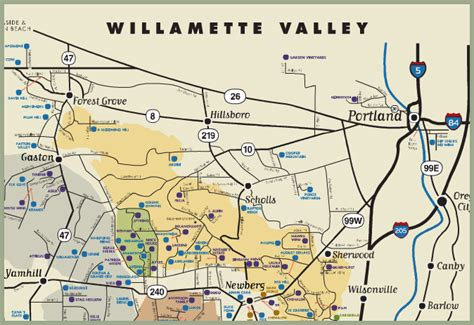 map of oregon vineyards yamhill vineyards bed and breakfast yamhill oregon