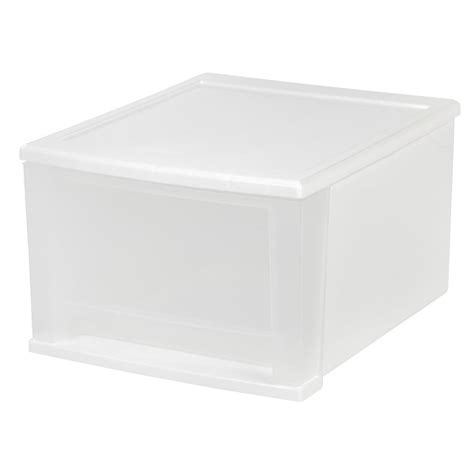 sterilite small modular drawer system sterilite id box 25 qt storage bin in white 14338006