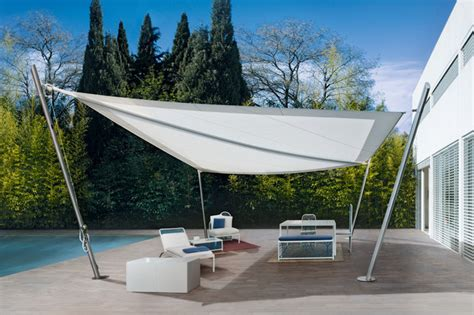 canvas sail awnings intrepid sail awning modern outdoor products by corradi