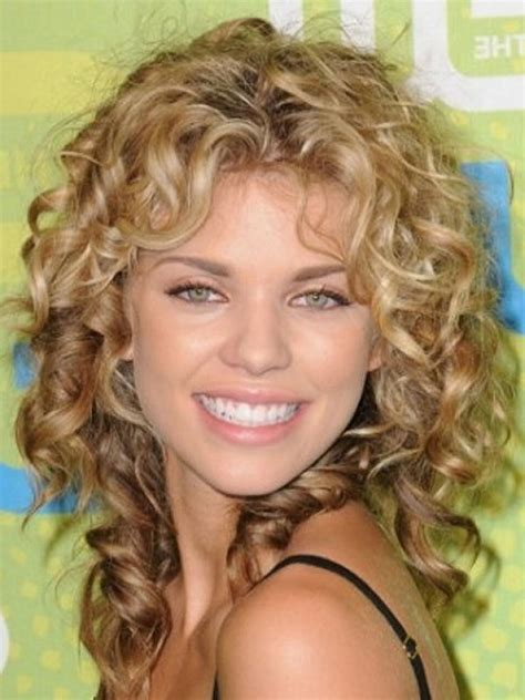 hair cuts for medium length permed hair with bangs 25 short curly hair with bangs shoulder length curly