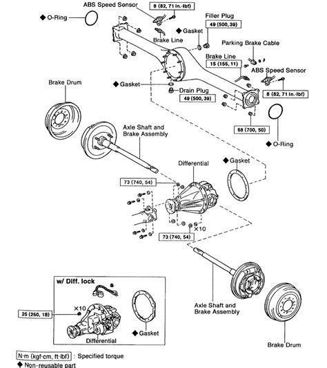 repair guides rear drive axle differential carrier