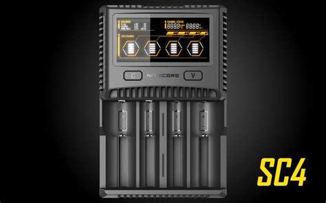 Nitecore Sc4 Charger Baterai 4 Slot Li Ion Nimh Nitecore Sc4 Superb Charger 4 Slot Universal Battery
