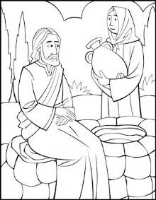 sunday coloring page woman at the well