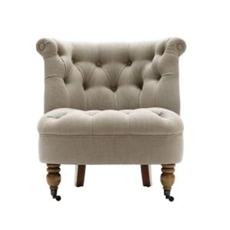 home decorators accent chairs home decorators collection flanders natural linen tufted