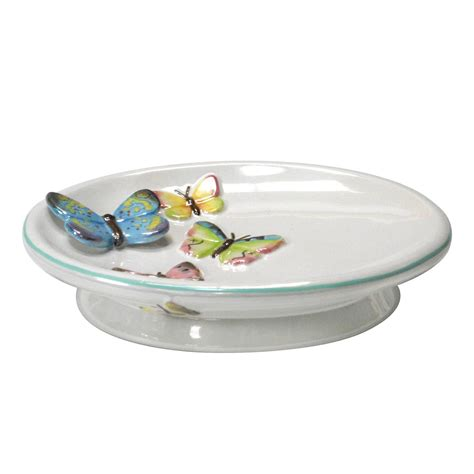 Essential Home Tahka Butterfly Soap Dish Butterfly Bathroom Accessories