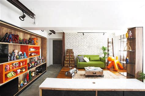 House tour industrial meets pop art in a 5 room hdb flat home amp decor singapore