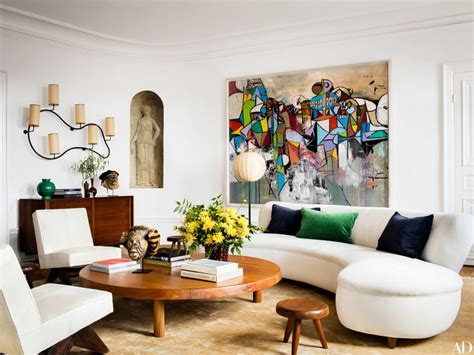 architectural digest home living room combination fashion editor giovanna battaglia brings an eye for style