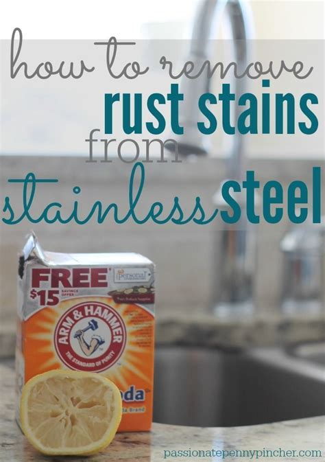 how to remove chemical stains from stainless steel sink 25 unique removing rust ideas on remove rust