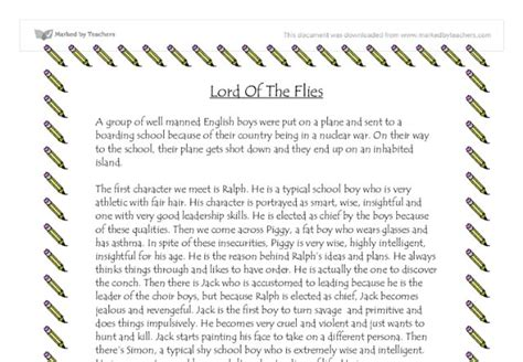 lord of the flies theme music college papers onlinecom