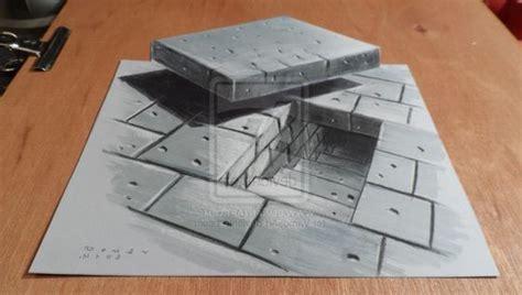 cara membuat gambar 3d sederhana di kertas contoh gambar 3 dimensi sederhana yang mudah di gambar
