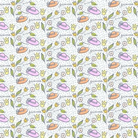 flower pattern freepik cute hand drawn hats and flowers pattern vector free