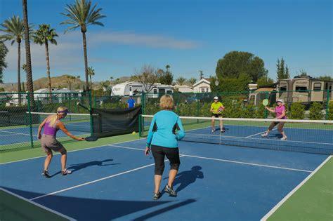Backyard Tennis Court Dimensions Pickleball Courts Rules Amp Tournaments Golden Village Palms