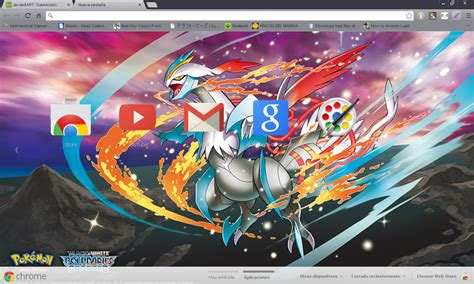 google wallpaper theme anime pokemon white kyurem google chrome theme by hellfrenzy on