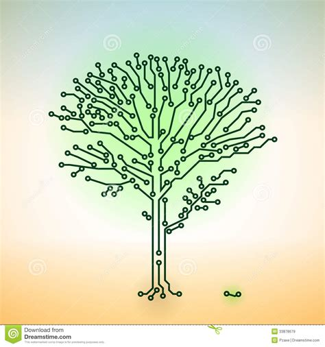 electronic tree vector simple electronic tree vector illustration