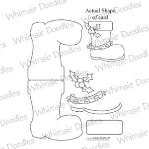 Santa Boot Template by Whimsie Doodles Digital Sts It S Release Day