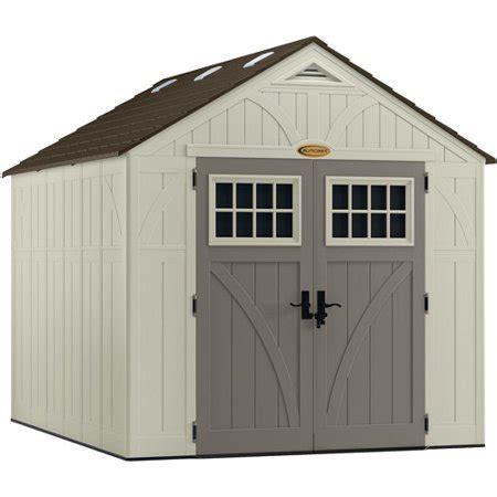 suncast  cu ft tremont  storage shed vanilla