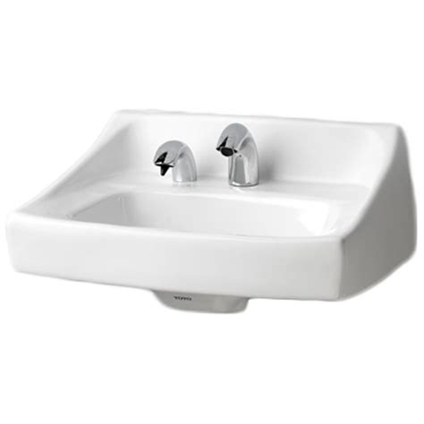 toto wall hung sink toto lt307a cotton white commercial wall hung lavatory