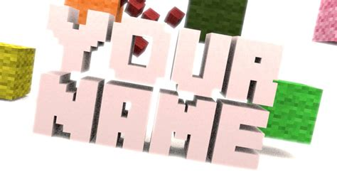 blender minecraft intro template intro template remake minecraft block blender