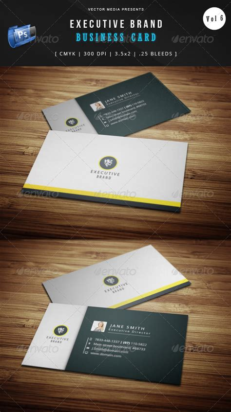executive brand business card vol 6 by vectormedia graphicriver executive brand business card vol 6 graphicriver