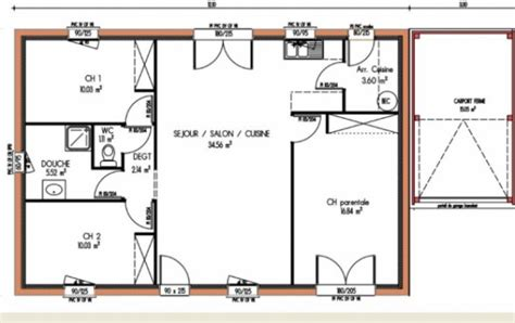 plan de maison 3 chambres salon plan maison 3 chambres ventana
