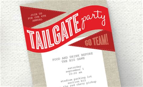 Tailgate Party Free Printable Invitation How About Orange Tailgate Template