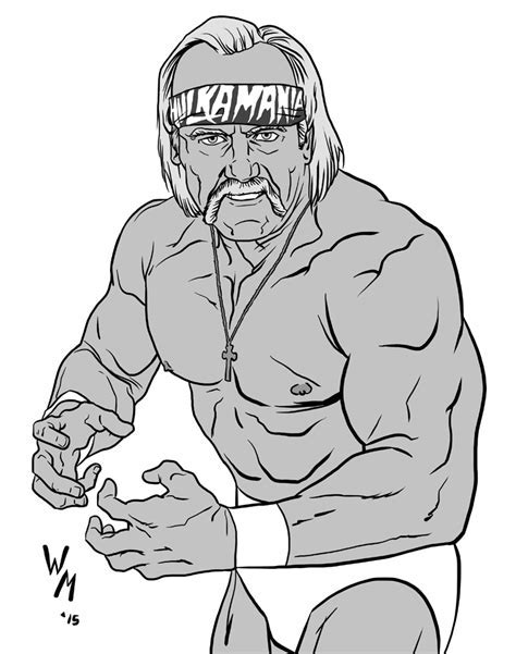 Hulk Hogan Coloring Pages Free Murderthestout
