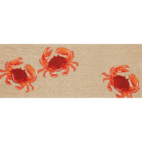 crab rug frontporch crabs outdoor rug on sale dfohome