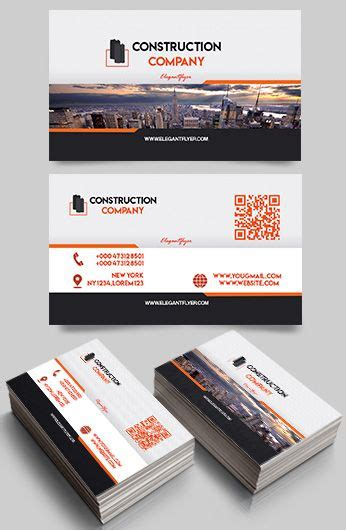 construction business card templates psd call center free business card templates psd by