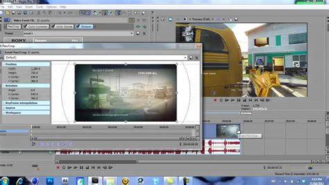 tutorial edit video vegas tutorial edit gameplay w sony vegas pro10 youtube