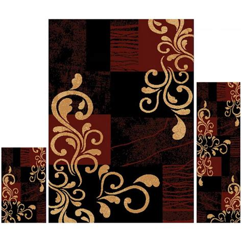Home Dynamix Ariana Ebony 4 Ft 11 In X 6 Ft 11 In 3 3 Living Room Rug Sets