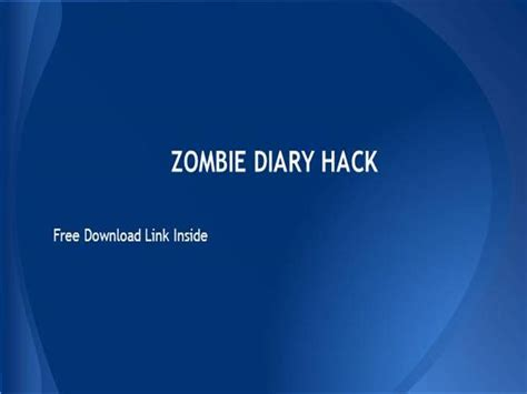 powerpoint themes zombie zombie diary hack zombie diary survival hack and cheats