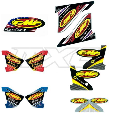 Gasgas Aufkleber Set by Fmf Exhaust Replacement Decals Im Motocross Enduro Shop