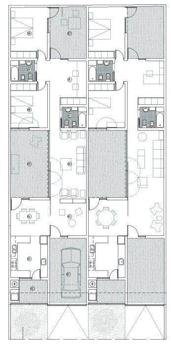 patio quinquela casa tres patios m2g arquitectos patios rio negro y