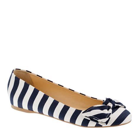 striped flats shoes stripe ballet flats ballet flats j crew